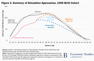 Summary of simulation approaches, 1995 birth cohort