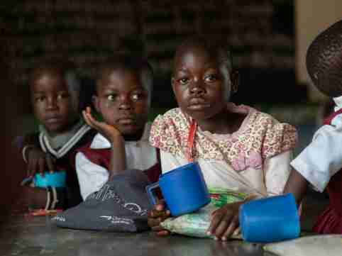 Female students in Malawi