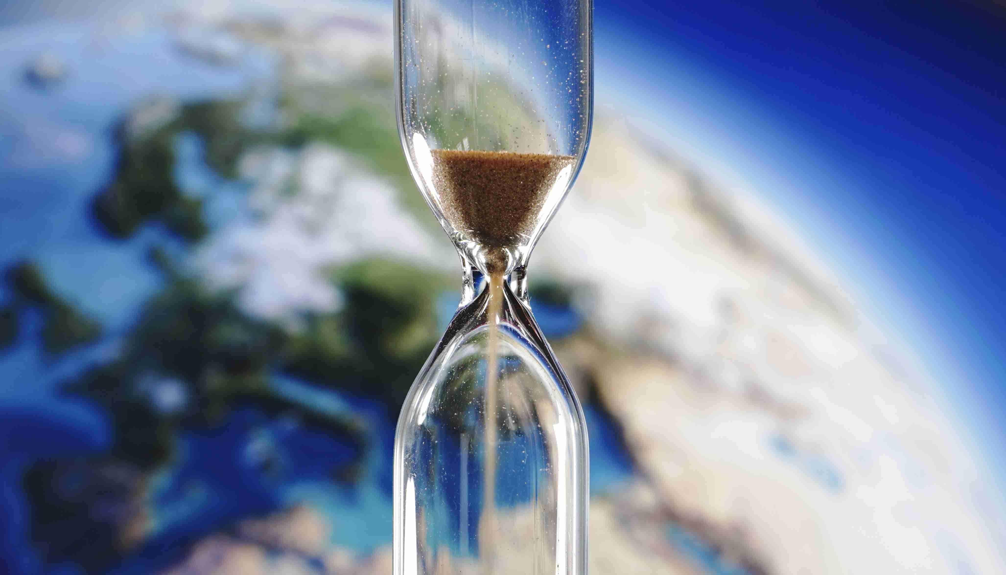 Earth and hourglass