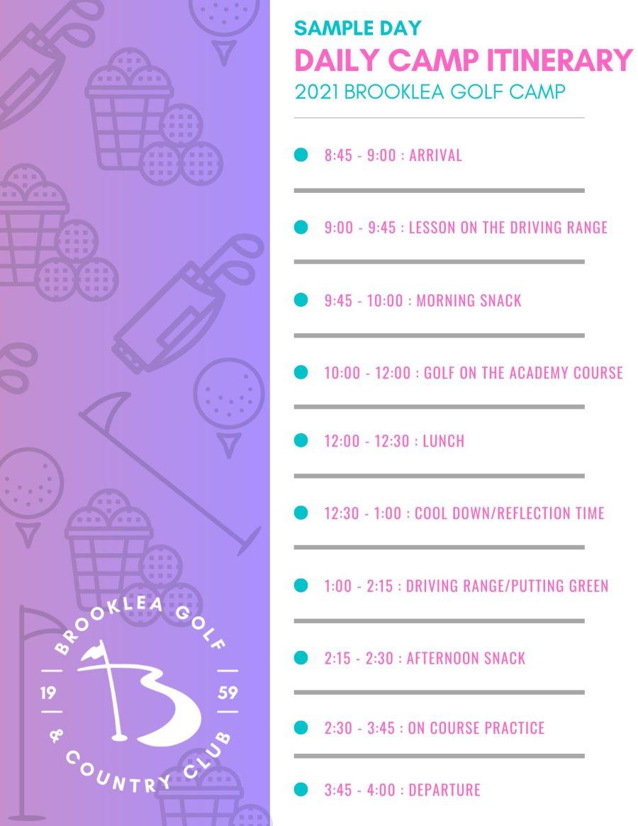 2020 - Golf Camp Itinerary (2)