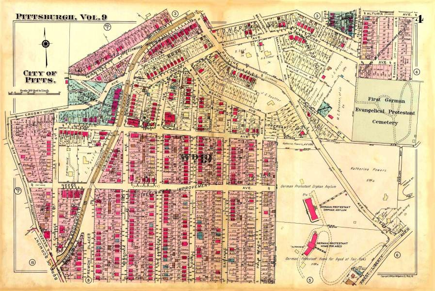 Brookline and Surroundings   Map   1940 Section 4