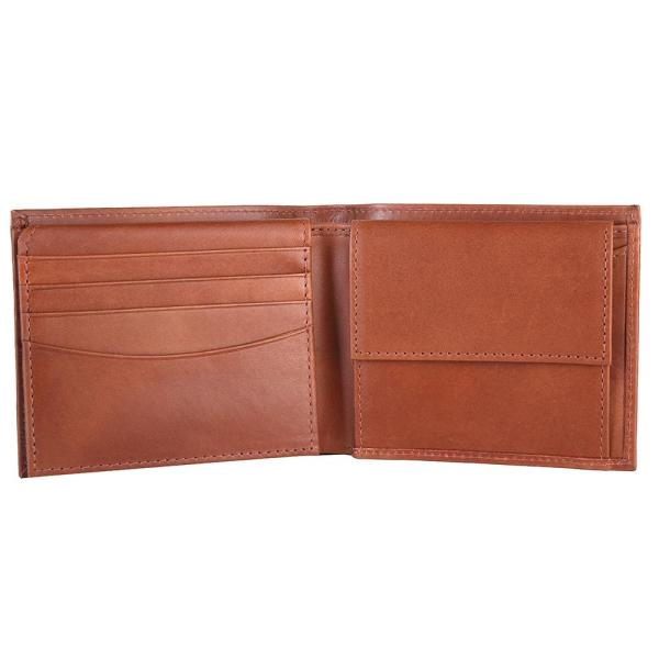 RFID Blocking Bifold Genuine Leather Wallet For Men With Coin Pocket And ID Window | Tan