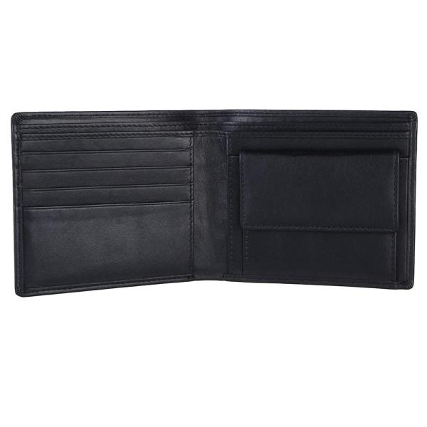 RFID Blocking Bifold Genuine Leather Wallet For Men With Coin Pocket | Black
