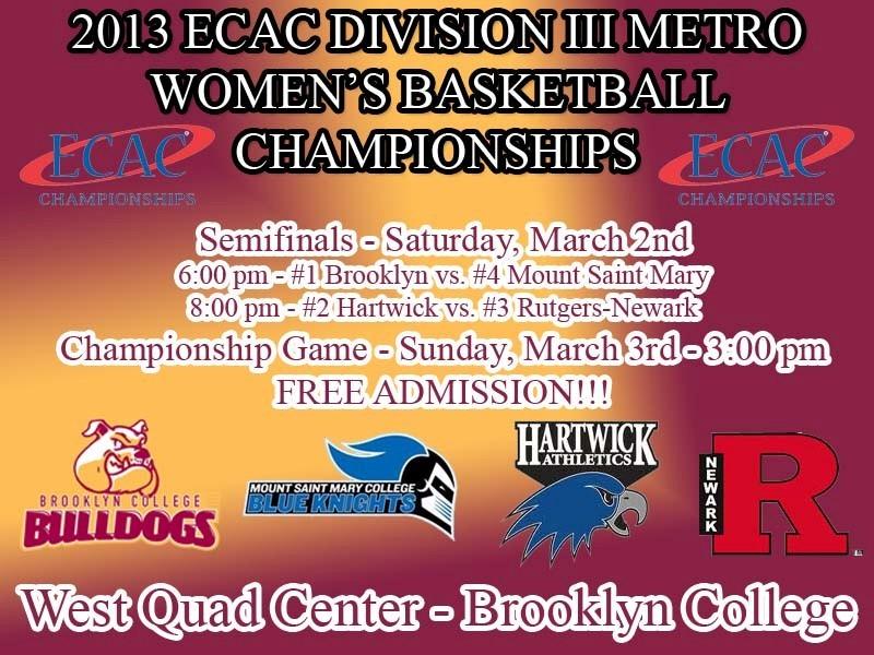 2013 ECAC WBB Semis and Final