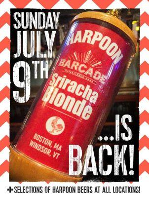harpoon sriracha blonde