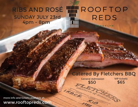 ribs and rose at rooftop reds