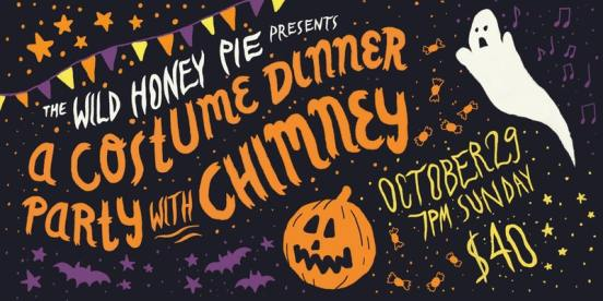 a costume dinner party with chimney