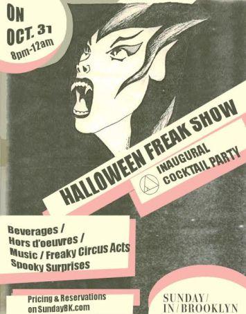 freakshow party sunday brooklyn