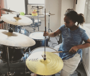 BMF camp drummer girl