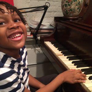 beginning music piano student
