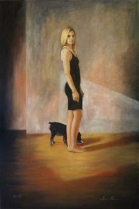 """Feeding Vero"" Oil on Canvas 2015"