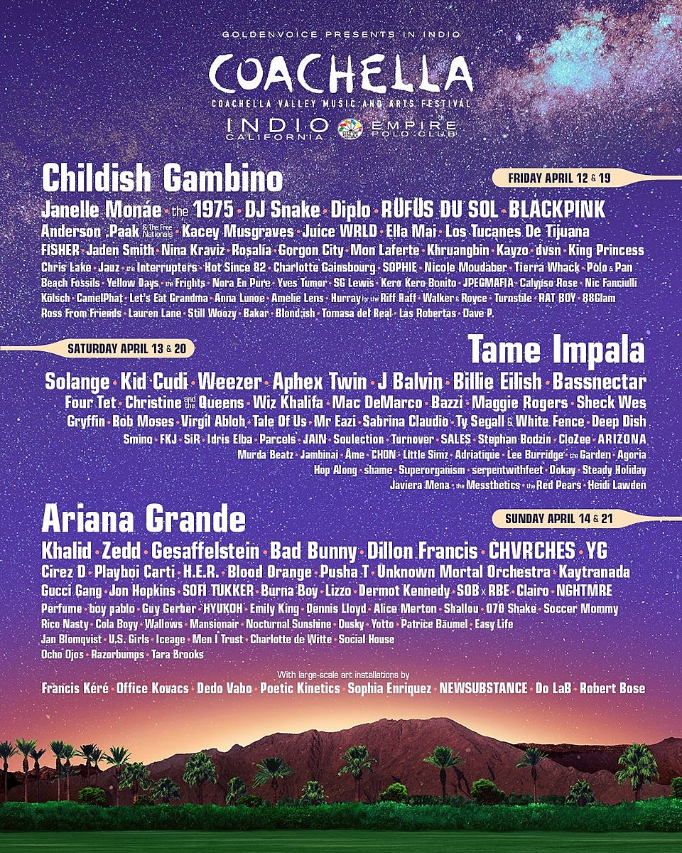 Image result for coachella 2019 lineup