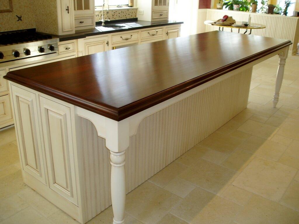 Premium Wide Plank Wood Countertops