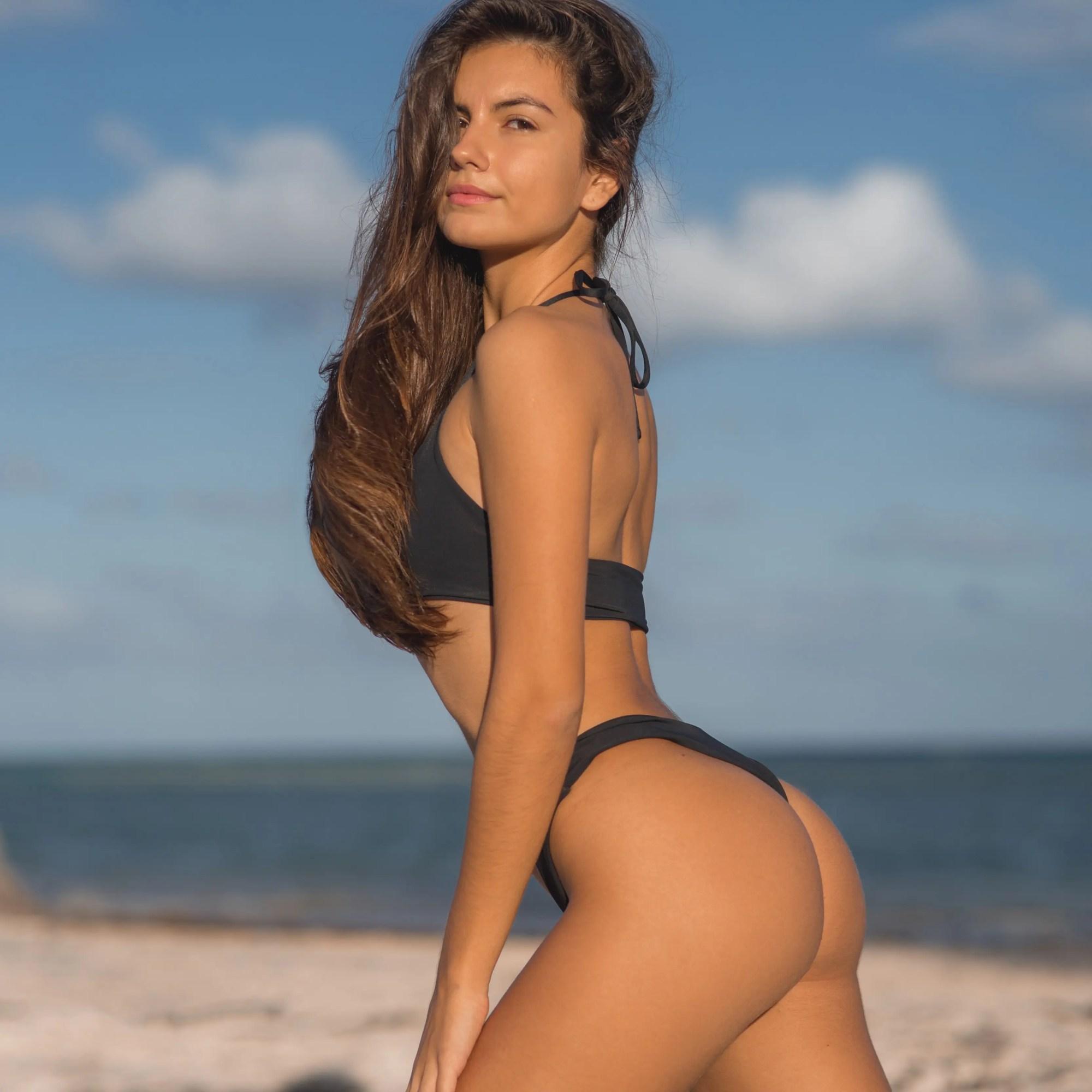 Anastasiia Boivka Black Bikini