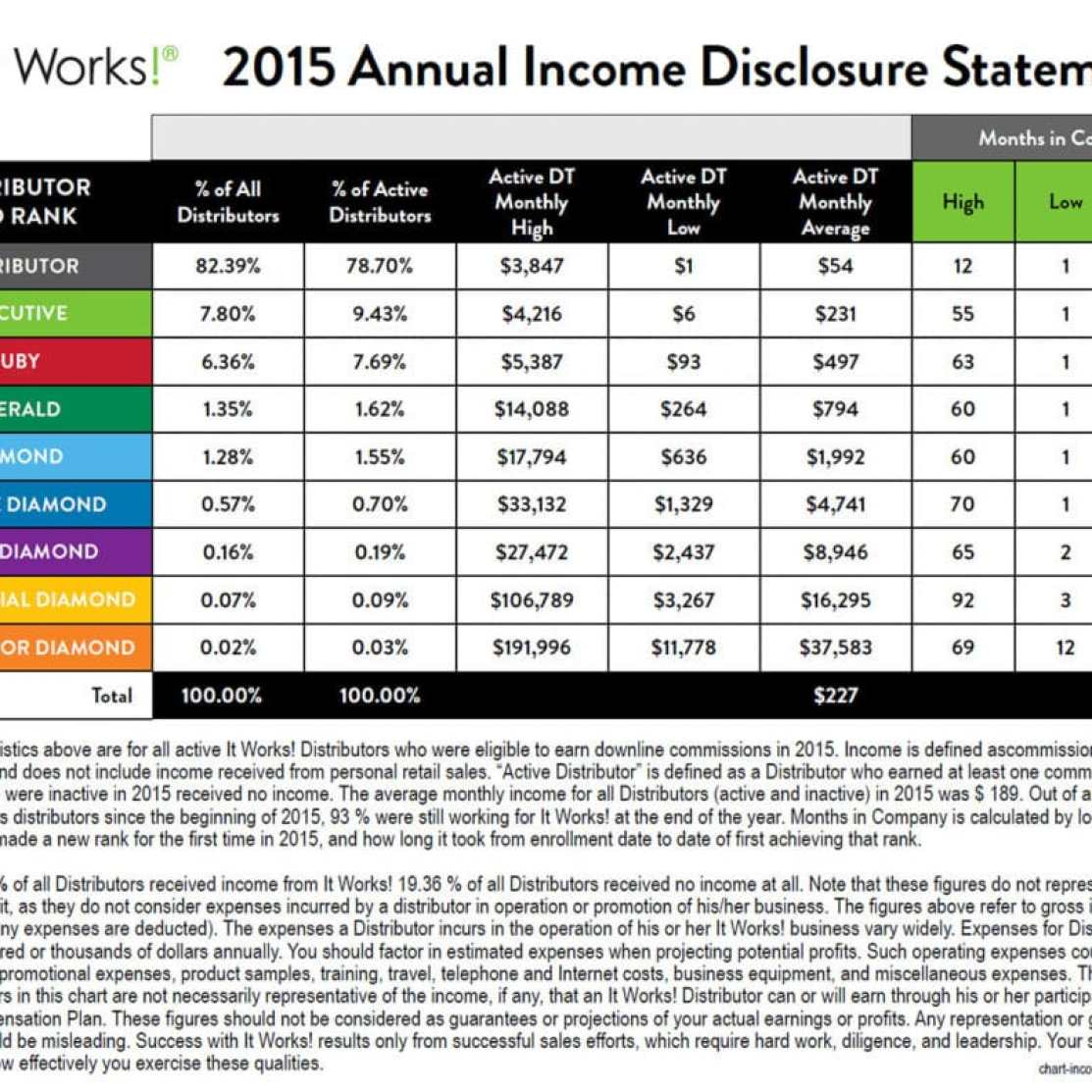 2015 itworks income statement