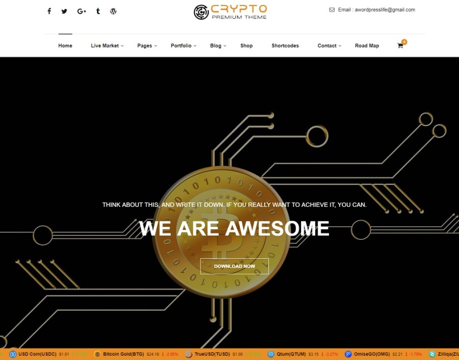 Crypto Premium WordPress Theme