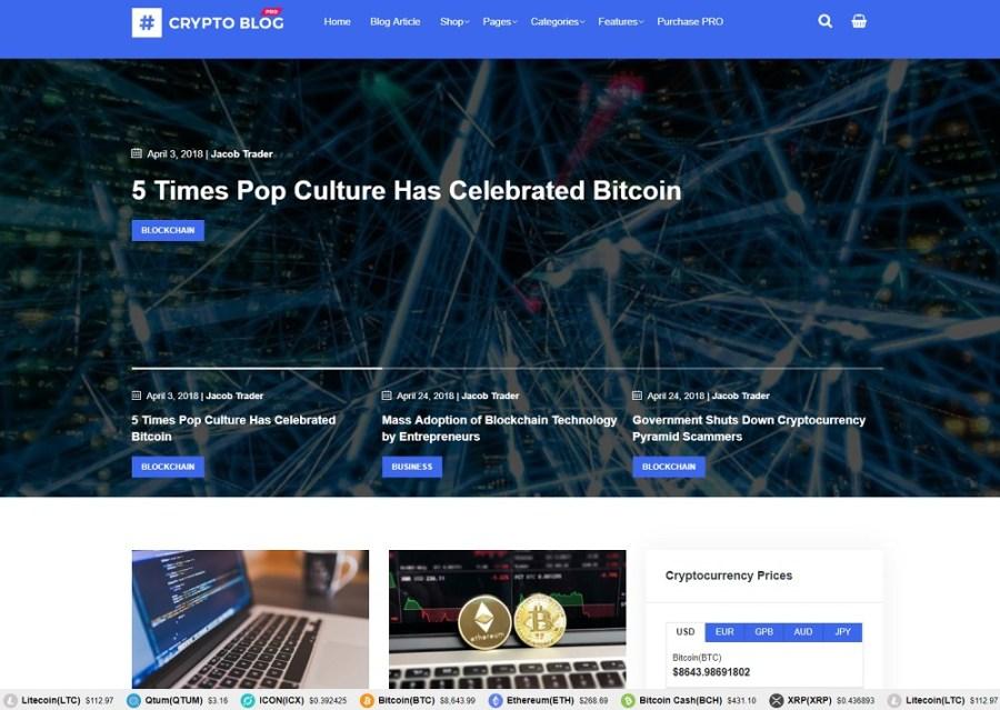 CryptoBlog Pro WordPress Theme