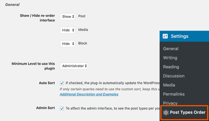 post types order plugin for reorder blog posts