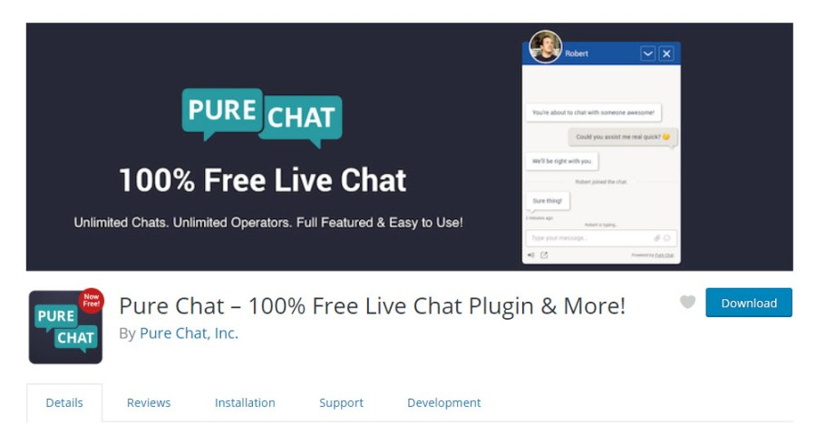 Pure Chat LIve Chat Plugin for WordPress