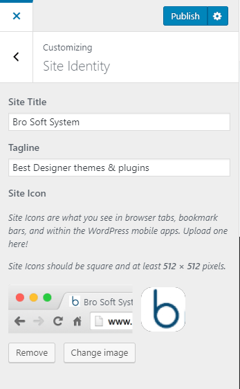 Upload A Favicon or site icon