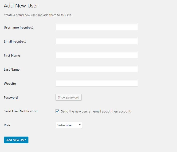 Change Display Name, Username, and Password