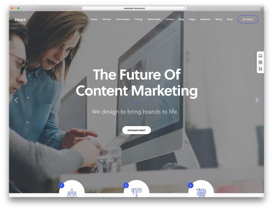 Intact Website Theme