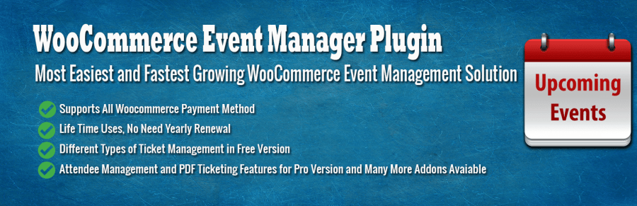 WooCommerce Event Management