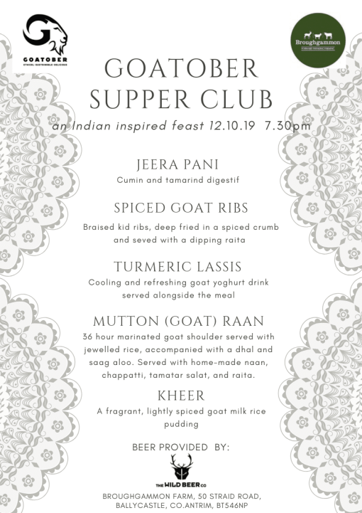 goatober menu ireland indian goat meat