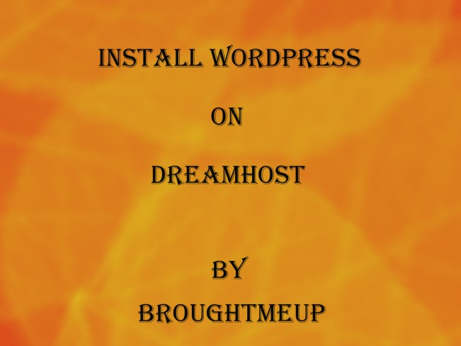 Wordpress on Dreamhost