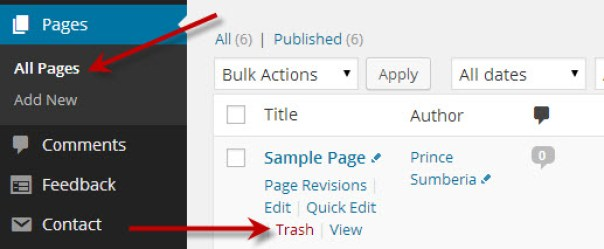 how to delete my comment on wordpress