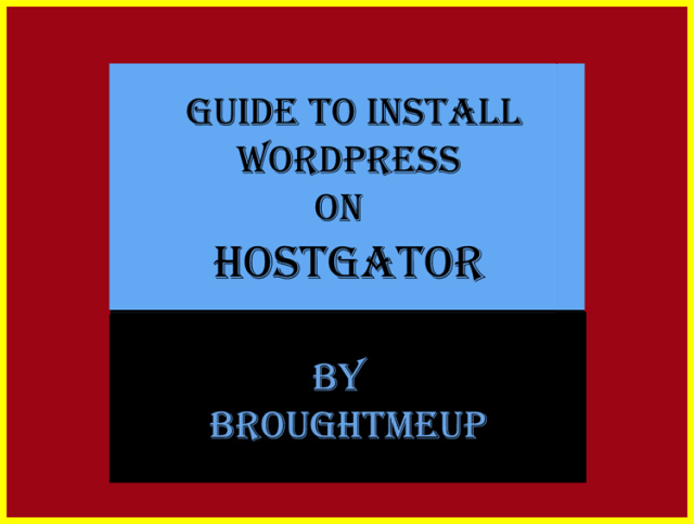 Install wordpress on hostgator