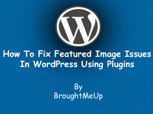 fix featured image issues in wordpress plugin