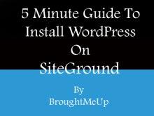 Install wordpress on siteground hosting using softaculous