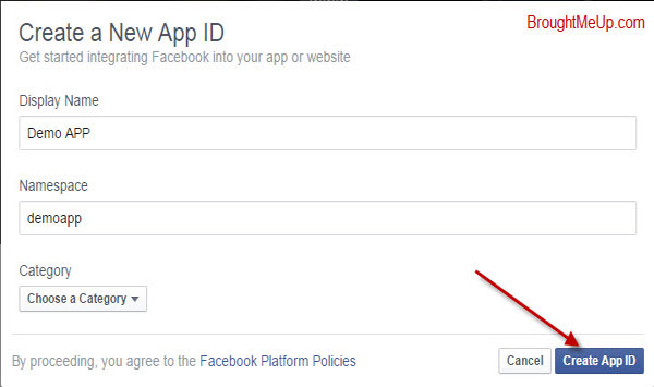 Create App ID To Install Facebook Comments To WordPress
