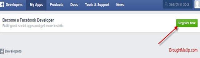 Facebook Developer Signup