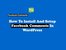 Install Facebook Comments In WordPress