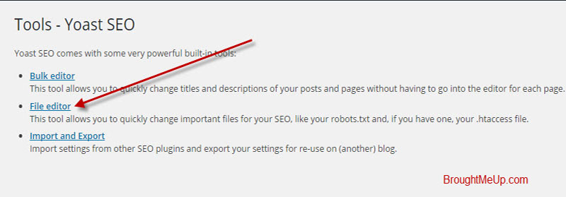 Edit Robots.txt file using yoast seo