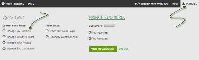 select custom domain
