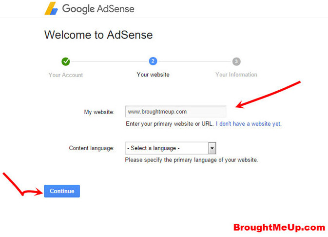 adsense site name