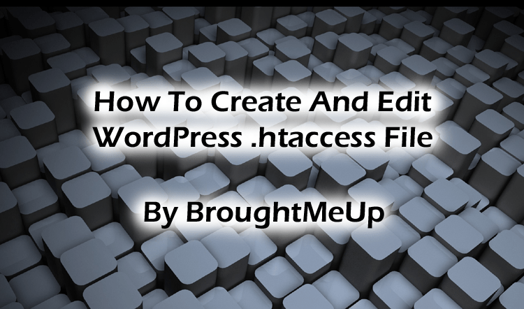 create and edit WordPress .htaccess file