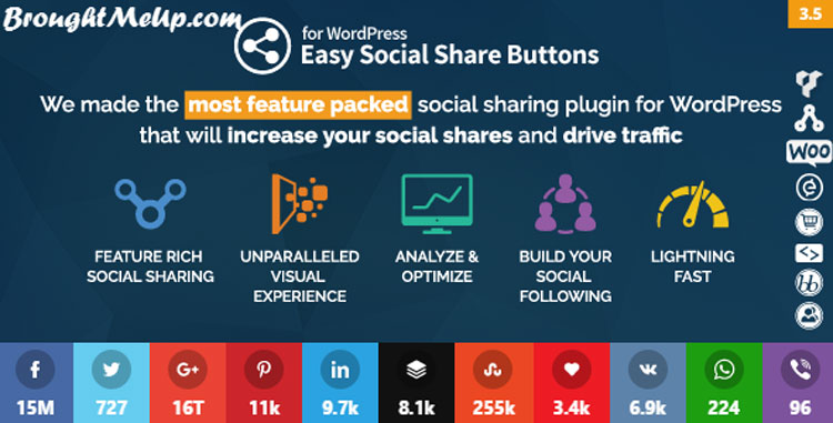 best wordpress social media sharing easy social share buttons plugin