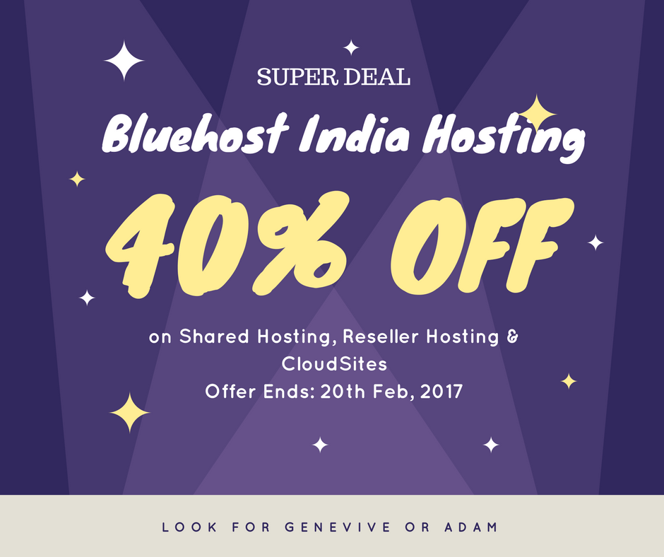 Bluehost india discount