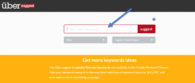 Ubersuggest Best Keyword Tool