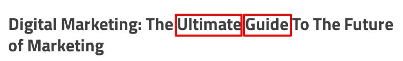 title modifiers