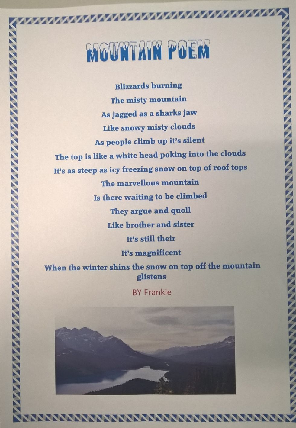 Broughton Primary School Mountain Poetry 2016