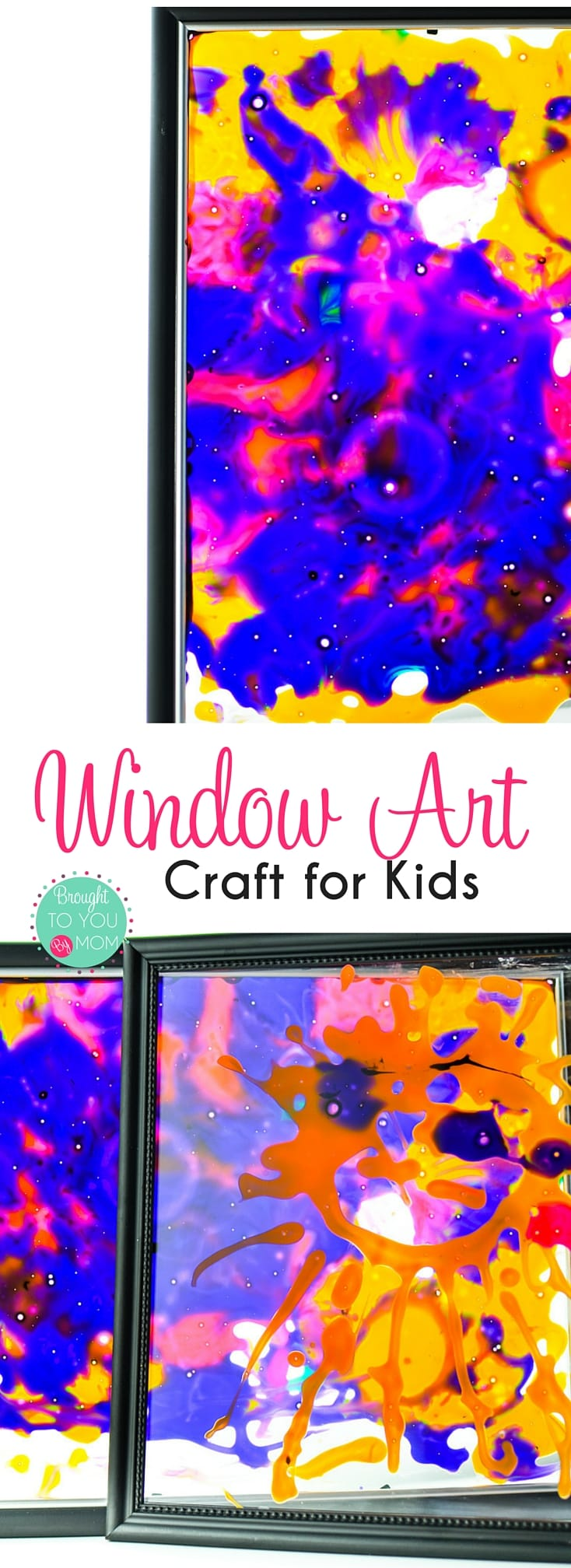 This fun kids activity and boredom buster is a fun way to give a stained glass look to any picture frame. This Window Frame Art Craft for Kids is great to display as sun-catchers or enjoy near any light source.