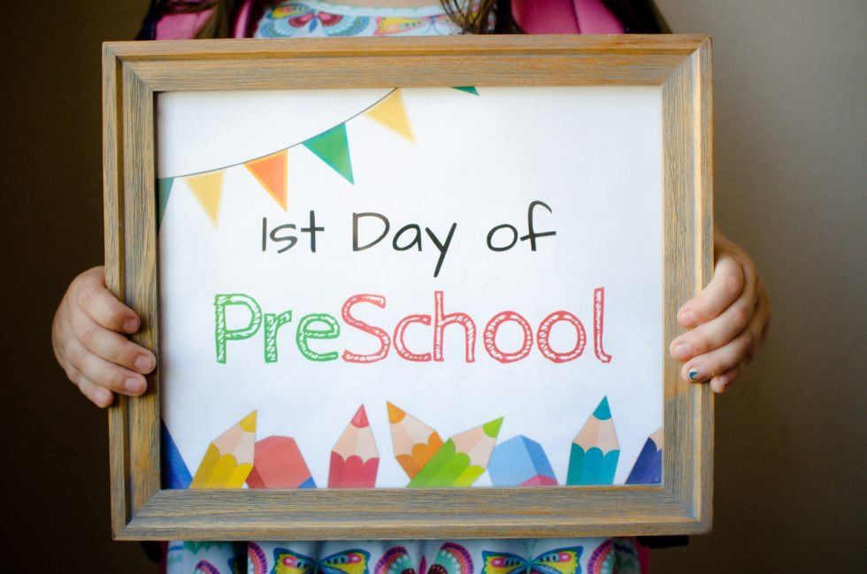 FREE First Day of School Sign Printables - For Grade School make the first day of school activities a day to remember.