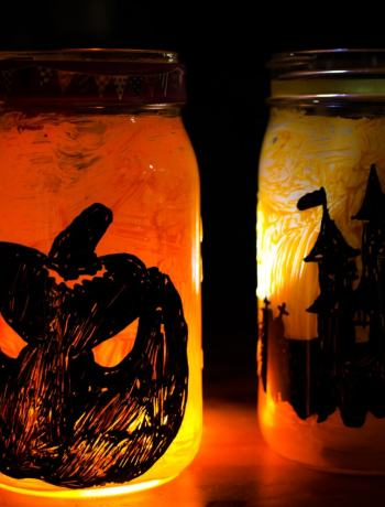 Give Halloween a glow with these DIY Halloween Mason Jar Lanterns. An easy tutorial to create fall fun decor at home.