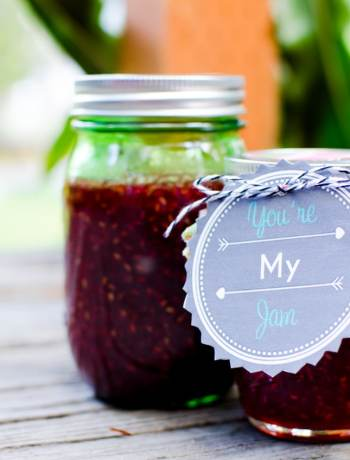 "Cute Jam Jar Labels that are FREE to print. Show someone ""You're My Jam"" with these great canned jelly jar labels for gifts."