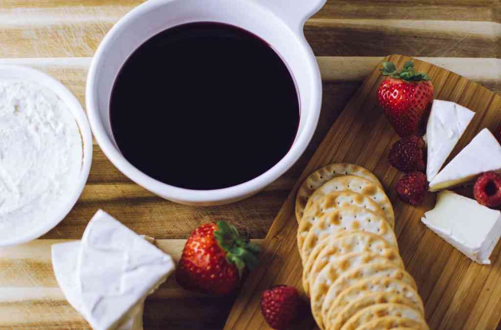 Holiday Black Cherry Wine Dip that is an easy holiday dip recipe for your cheese platter. Great for party appetizer ideas.
